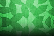 Free Green Leaves Pattern Wallpaper Stock Photos - 18273123