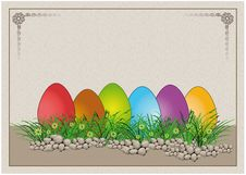 Free Easter Egg Colors Paper Card Royalty Free Stock Image - 18273676