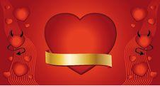 Free Heart Valentine Congratulations Stock Photography - 18273842