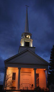 Free Church At Night Royalty Free Stock Photo - 18274235