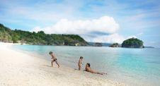 Free Happy Family On Beach Stock Image - 18275061