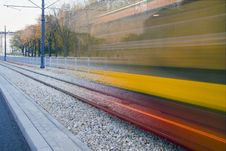 Free Moving Tram Stock Image - 18275091