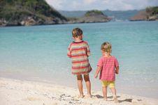 Free Two Children On Beach Stock Photo - 18275160