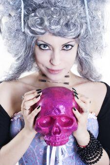 Goth Woman Stock Photo