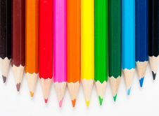 Free Varicolored Color Pencils Royalty Free Stock Photography - 18275337