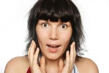 Free Portrait Of A Surprised Girl With Wide-opened Eyes Royalty Free Stock Images - 18275809