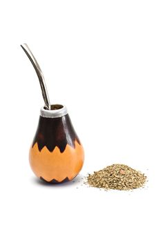 Free Calabash With Yerba Mate. Royalty Free Stock Photos - 18275838