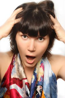 Free Portrait Of A Shouting Girl. Stock Photo - 18275900
