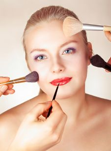 Bright Picture Of Lovely Woman With Make-up Royalty Free Stock Images