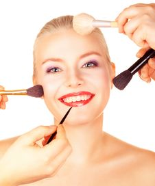 Bright Picture Of Lovely Woman With Make-up Royalty Free Stock Image