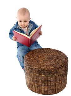 Free Little Boy Reading Book Stock Photo - 18277060