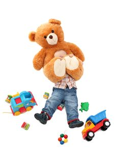 Free Cute Baby Playing With Toys Stock Photos - 18277143