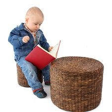 Free Little Boy Reading Book Stock Image - 18277491