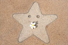 Free Smile Star And  Frangipani Stock Photo - 18278350