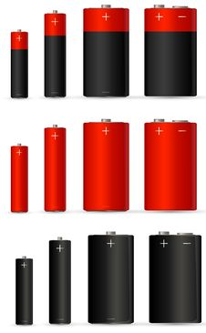Free Red Battery Royalty Free Stock Photo - 18279555
