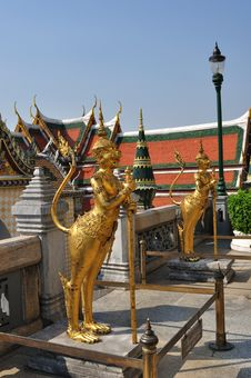 Brass Statue In Grand Palace. Royalty Free Stock Images