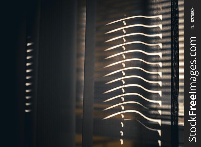 Sunlight in the window.