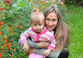 Free Mom And Daughter In The Garden Stock Photos - 18283303