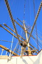 Free Ship Tackles, Rigging On A Old Frigate Royalty Free Stock Photography - 18283347