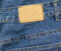 Free Blank Leather Label On Jeans Stock Photo - 18286040