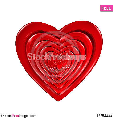 Free Radiating Hearts Stock Images - 18284444
