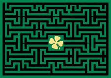 Free Conceptual Of Clover Leaf Maze Stock Photo - 18281090
