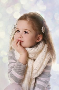 Free Thoughtful Girl Royalty Free Stock Photos - 18281968