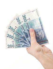 Free Hand Holading 1000 Litas Royalty Free Stock Image - 18282286