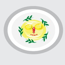 Free Cheerful Fried Eggs On A Plate Royalty Free Stock Image - 18282926