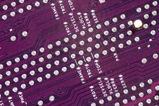 Computer Circuit Board In Blue Stock Photo
