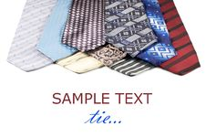 Free Set Of Luxury Ties On White Stock Image - 18283011