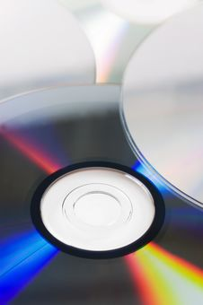 Free Background With CD / DVD Disks Royalty Free Stock Image - 18283046