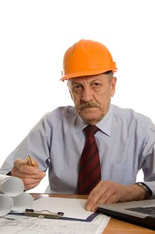 Free Engineer At The Computer Stock Images - 18283054