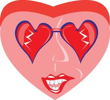 Free Cartoon Heart On Isolated Background Stock Image - 18283061