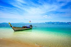Free Traditional Thai Boat Royalty Free Stock Photography - 18283837
