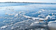 Free Big Chunk Of Ice On Frozen River Stock Photo - 18284000