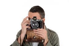 Free Young Professional Photographer Stock Image - 18284051