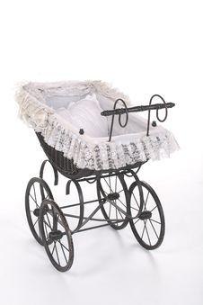 Free Vintage Doll Stroller Royalty Free Stock Photography - 18284067