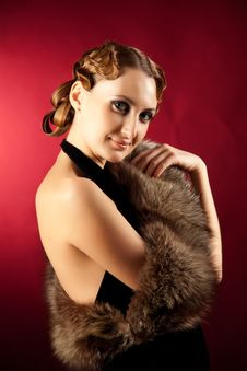 Free Shot Of Woman In Classic Style With Fur Royalty Free Stock Photo - 18284305