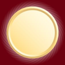 Free Gold Round Frame Stock Photography - 18284322