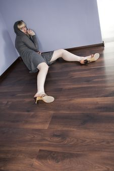 Free Lonely Women On A Floor Stock Photos - 18285053