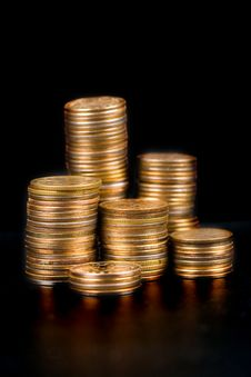 Free Piles Of Gold Coins Royalty Free Stock Photography - 18285097