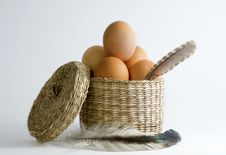 Free Eggs In Basket Stock Images - 18285384