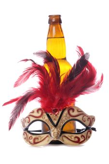 Free Cider And Masquerade Mask Stock Photo - 18285940