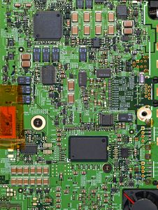 Free Computer Circuit Board Royalty Free Stock Photography - 18285967
