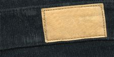 Free Blank Leather Label On Jeans Stock Photos - 18286563