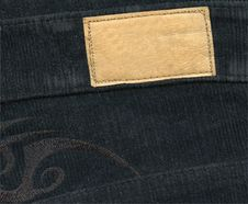 Free Blank Leather Label On Jeans Royalty Free Stock Image - 18286606