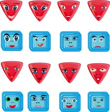 Free Animation Red And Blue Buttons Royalty Free Stock Photography - 18286687
