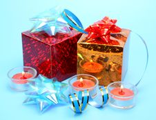 Free Gift And Candles Royalty Free Stock Images - 18287079