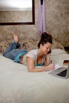 Free Multi Tasking Woman Stock Photography - 18287282